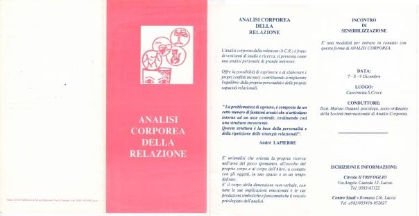 analisi corporea della relazione